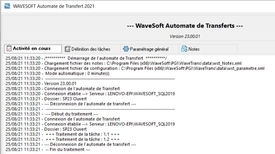 Module WaveSoft Automate de Transferts v23